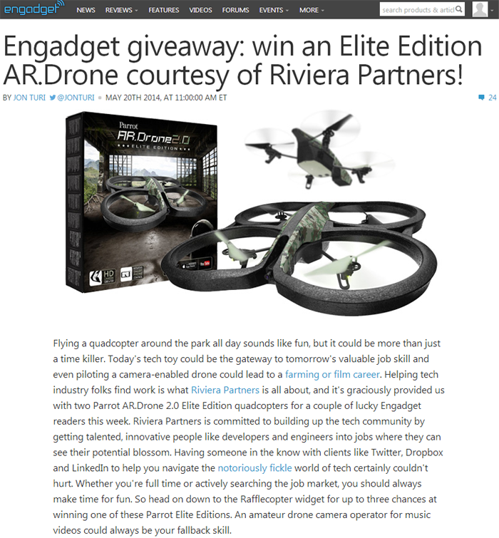 Engadget & Riviera Quadcopter Giveaway